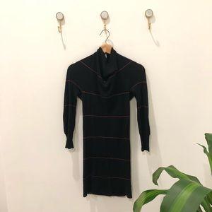FREE PEOPLE black strip wool thin top tunic small